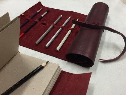 The Oxblood Leather Artist Roll