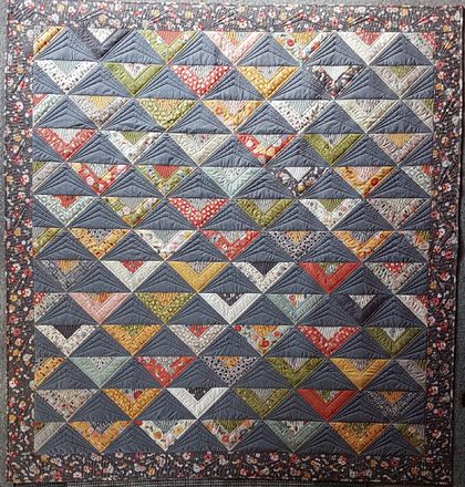 """On Point"" Patchwork quilt"