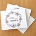 Beautiful floral LOVE & THANKS card -  a single card