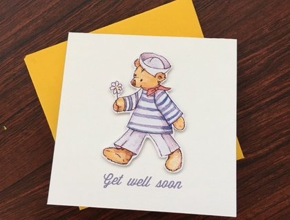 Get Well Soon - Pop-up Square Card