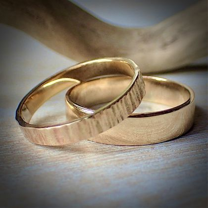Handmade 9ct Gold Wedding Rings