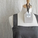 Rustic linen, cross back, japanese style pinafore apron in slate grey