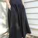 Pure  linen gathered  boho skirt - made to order