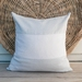 Washed linen color block cushion cover