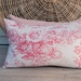 Pair of chintz/linen cushion covers.