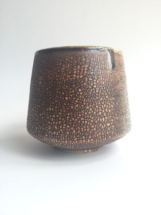 Wood Fired Stoneware:  Crackle Tumbler 4