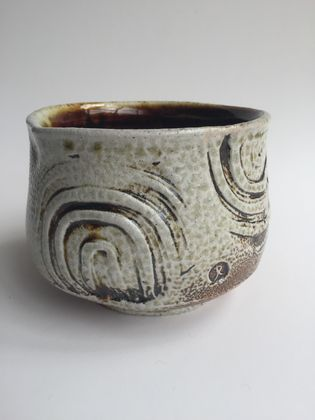Wood Fired Stoneware:  Stamped Bowl 6
