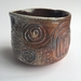 Wood Fired Stoneware:  Stamped Bowl 7