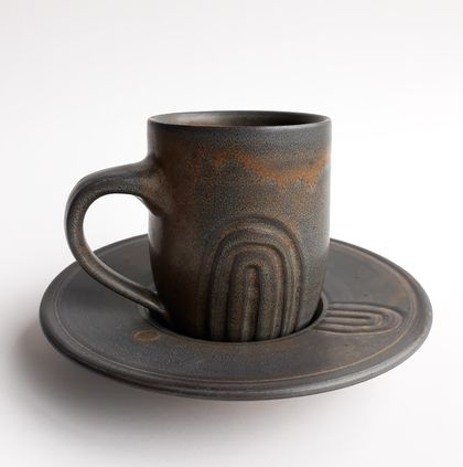 """Lahar"" - Mug and Saucer"