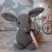 Rabbit Rattle in Grey