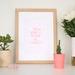 Throw Kindness around like Confetti - Neon Letterpress Print