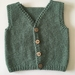 Hand Knitted NZ Pure Wool Boys Vest 0-3 Months