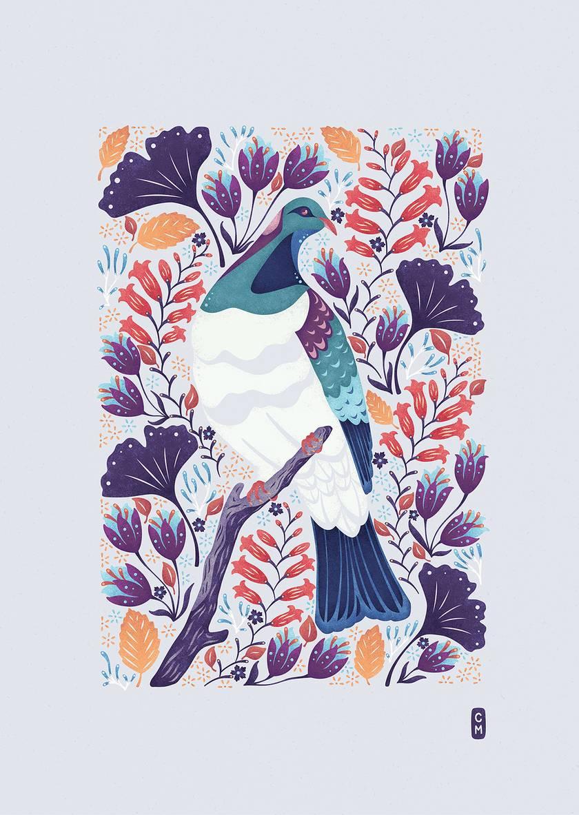 Kereru — A2 Fine Art Giclee Print