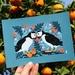 Scottish Puffins — A5 Fine Art Giclee Print