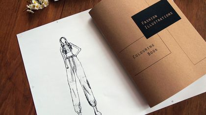 Fashion Illustrations Colouring book  40 pages