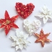 Christmas tree decorations. Handmade. Set of 6