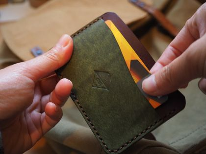 No.3 Wave Handmade Leather Card Holder