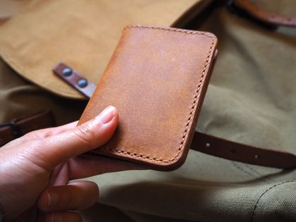 Minimalist Handmade Leather Card Wallet