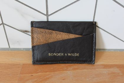 CHOC/ TAN SPECKLE Sonder Slim card wallet