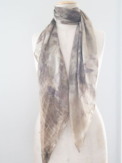 Plant Dyed Square Silk Scarf