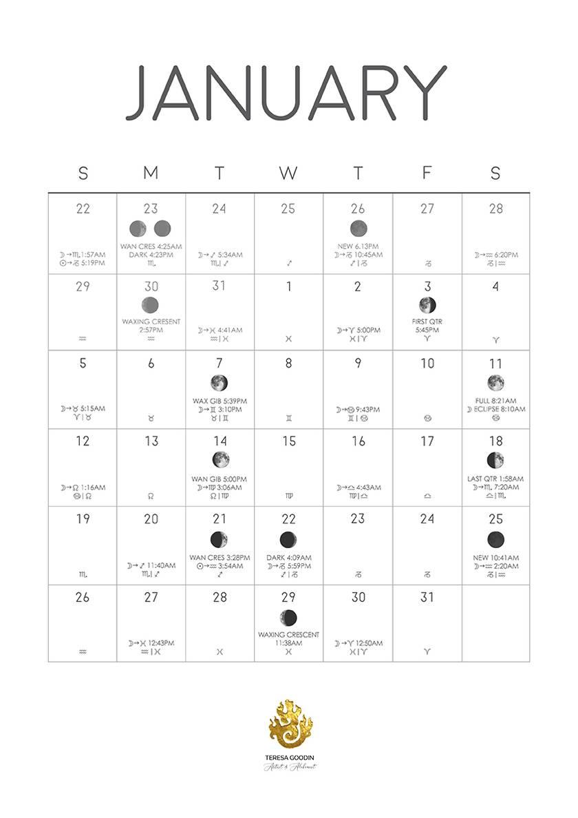2020 Astrological Moon Calendar
