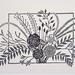 Bouquet - Linocut Print
