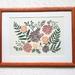 Inside the Coloured Petal - Linocut Print (Unframed)