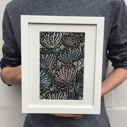 SNOW BLOOMS -framed  *sale