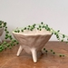Small ceramic footed planter