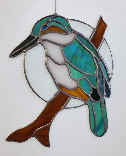 Stained Glass Kingfisher