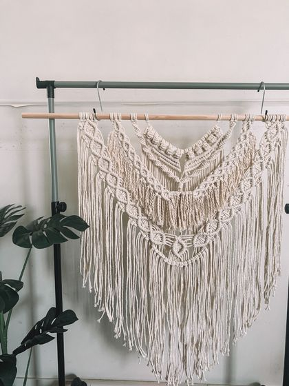 Large boho macrame wall hanging