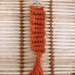 Orange macrame zigzag keyring