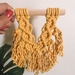 Mini yellow macrame hanging