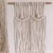 BOOBS - Pierced knot natural macrame wall hanging