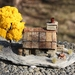 Miniature Model Miners Cottage with Yellow Tree