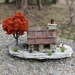 Miniature Miners Cottage with Brown Tree