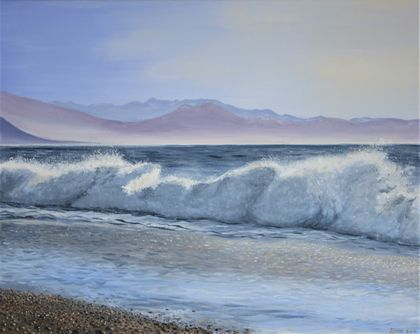 "Original painting ""Haast Beach"""