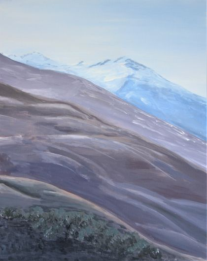 "Original paining ""Mountain hues"""