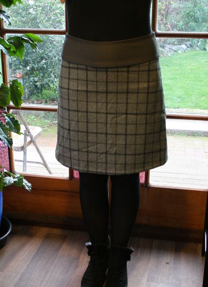 A-line wool mix skirt