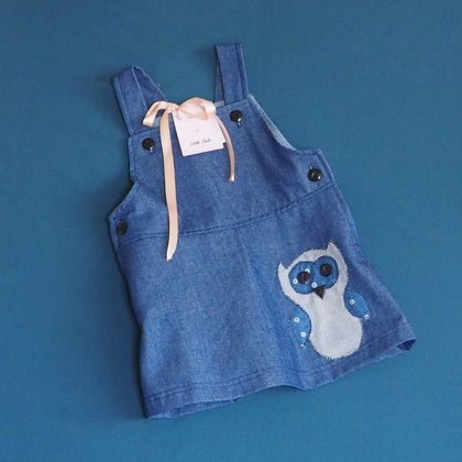 Little Owl Denim Dress