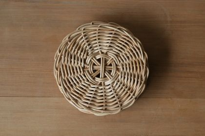 Handwoven Natural Rattan Cane Coaster Set