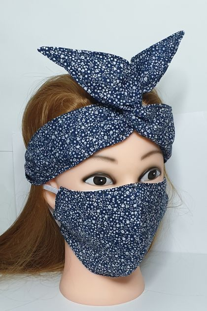 Reusable mask with matching headband/adults/teens