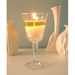 Set of three starfruit and citrus scented crystal glass soy candles