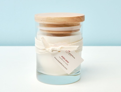 Medium glass tumbler scented soy candle