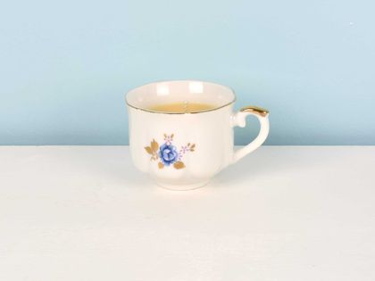 Vanilla scented soy teacup candle