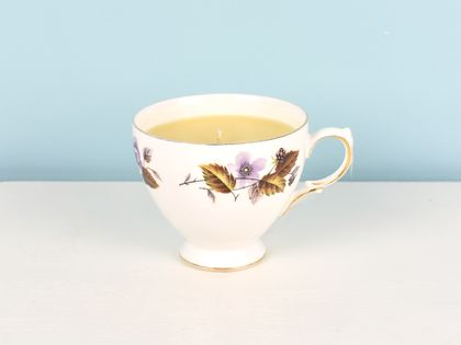 Jasmine scented soy teacup candle